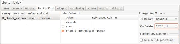 MySQL Workbench foreign key