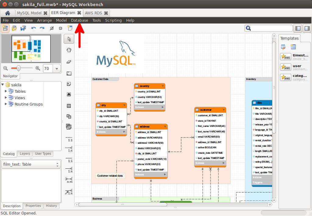 mysql workbench diagrama